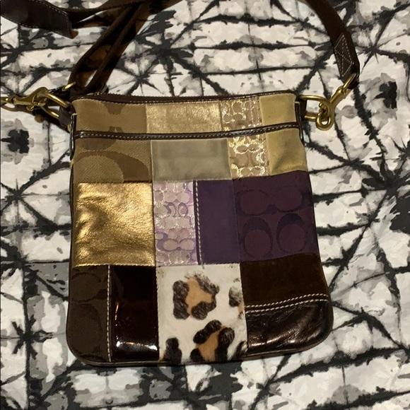Coach cross body, small patchwork bag